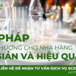 Giải pháp tạo mùi thơm cho nhà hàng đơn giản và hiệu quả