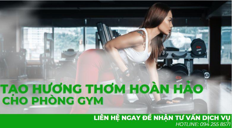 Tạo hương thơm cho phòng tập gym