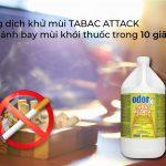 Dung dịch khử mùi thuốc lá Tabac-Attack – giải pháp hoàn hảo của những căn phòng ám mùi khói thuốc