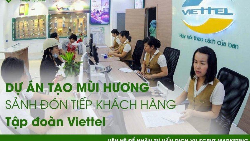 Dịch vụ tạo mùi hương sảnh đón tiếp khách hàng đến hiệu quả bất ngờ tại tập đoàn Viettel