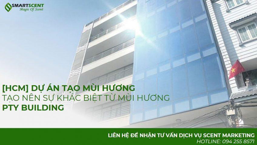 Dự án cung cấp máy tọa mùi hương cho tòa nhà văn phòng PTY