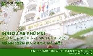 khử mùi cho nhà vệ sinh bệnh viện đa khoa Hà Nội