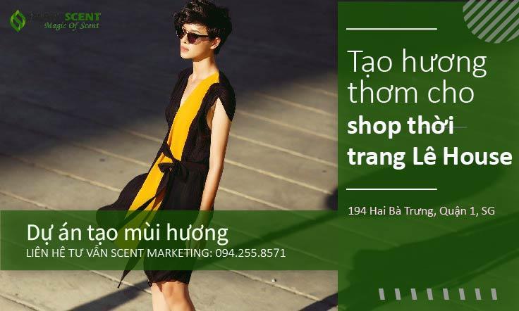 Tạo thơm shop thời trang Lê House